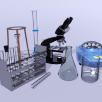 Science Lab Equipment Microscope & More